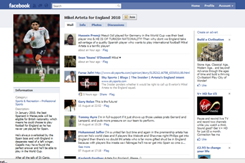 Mikel Arteta For England