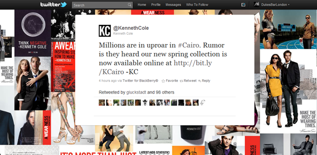 Is the Kenneth Cole tweet the worst ever done by a brand?