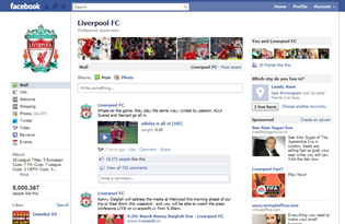 Liverpool FC Facebook Page