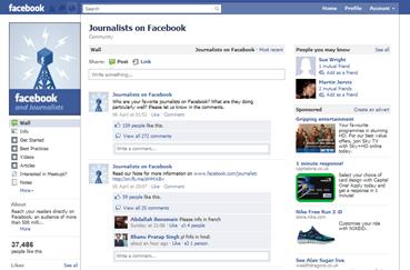 Journalists on Facebook