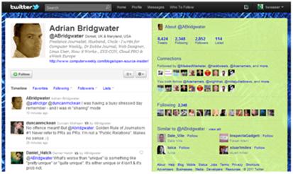 Adrian Bridgwater Twitter