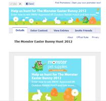 Facebook Monster Pet Supplies Contest