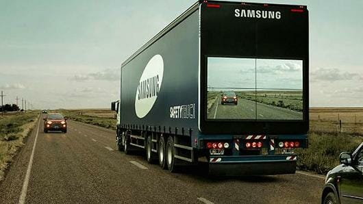 "PR Stunt of the Week: Samsung ""The Safety Truck"""